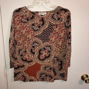 Liz Claiborne | Women's Print Blouse Medium